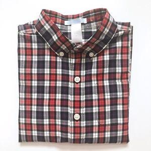 Boys Janie & Jack Red Purple Plaid Shirt 5